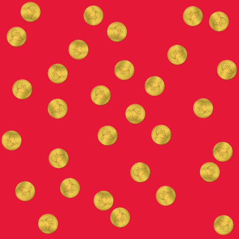 luckycricketcoins1 fabric by leopardessmoon on Spoonflower - custom fabric