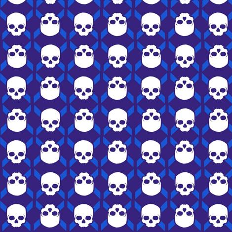 skull symbol fabric by susiprint on Spoonflower - custom fabric