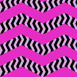 mad chevrons - blushing zebra
