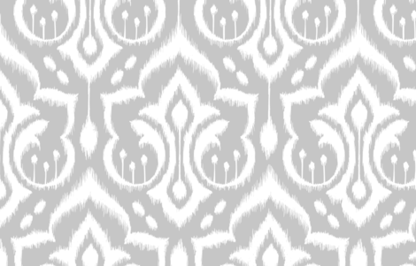 Ikat Damask Large_Silver fabric by pattysloniger on Spoonflower - custom fabric
