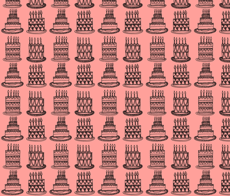 Cakes - just pink fabric by anda on Spoonflower - custom fabric