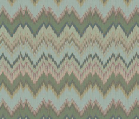 Lake Ikat Chevron fabric by willowlanetextiles on Spoonflower - custom fabric