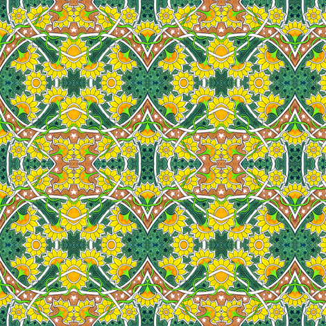 That Sunflower Summer fabric by edsel2084 on Spoonflower - custom fabric