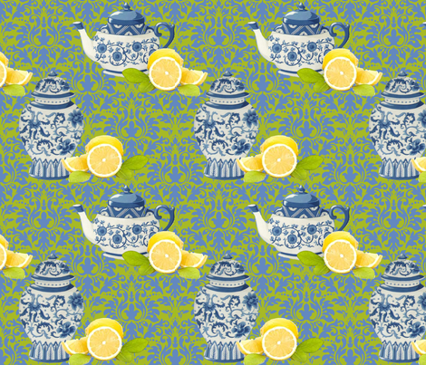 Lemon_Tea_Time fabric by kelly_a on Spoonflower - custom fabric