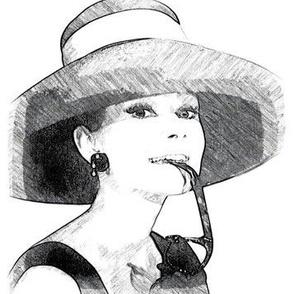 Audrey Hepburn black & white