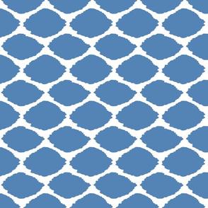 Gem Blue Oval Ikat
