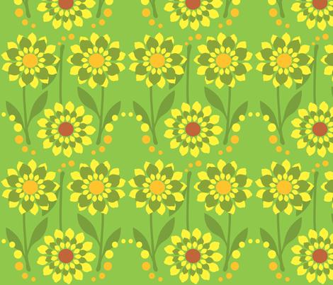 Zesty Citrus Flowers  fabric by linda_santell on Spoonflower - custom fabric