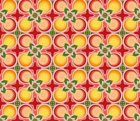 Citrus Bliss fabric by run_quiltgirl_run on Spoonflower - custom fabric