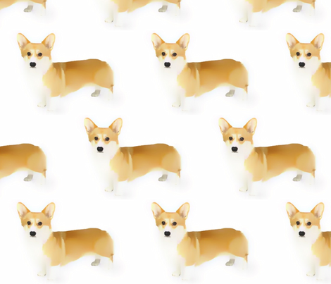 Corgi fabric by mezzime on Spoonflower - custom fabric