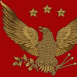 gold eagle - bright on red