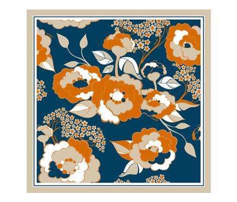 Rosetta Scarf - Tangerine fabric by hairpik on Spoonflower - custom fabric