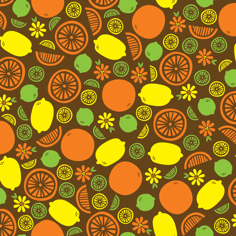 A Splash of Citrus fabric by robyriker on Spoonflower - custom fabric