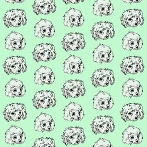 Poodle Pups | Mint | Small Scale