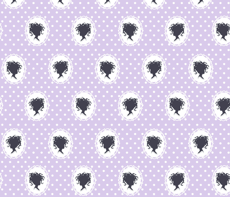 Medusa in lavender fabric by mezzime on Spoonflower - custom fabric