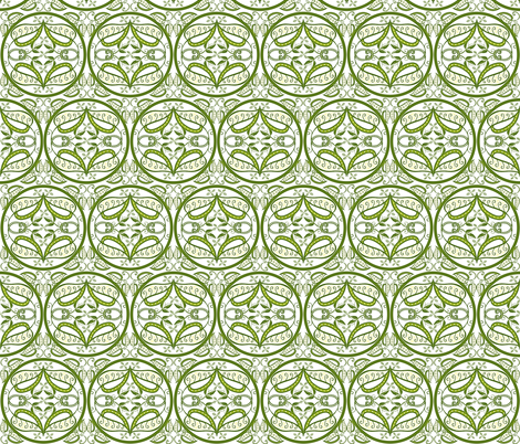 trellis in olive and white fabric by ladyrattus on Spoonflower - custom fabric