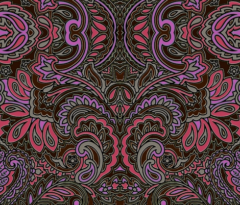 Chocolate Swirl Paisley fabric by whimzwhirled on Spoonflower - custom fabric