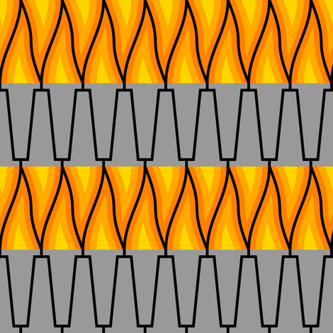 flaming torch fabric by sef on Spoonflower - custom fabric