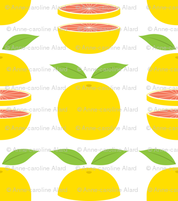 Grapefruits whole and sliced