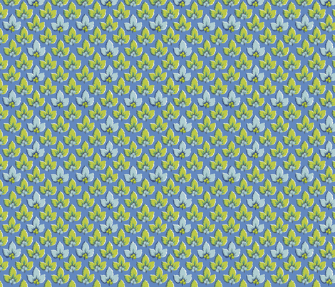 Azure_Verde_Leaves fabric by kelly_a on Spoonflower - custom fabric