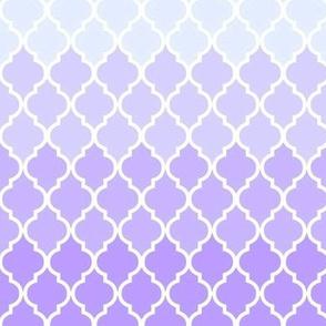 Purple ombre quatrefoil
