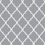 Grey quatrefoil