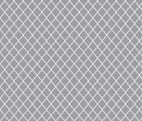 Grey quatrefoil fabric by mezzime on Spoonflower - custom fabric