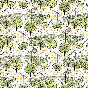 Citrus Grove with Oranges