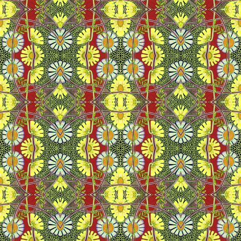 Distracted by Daisies fabric by edsel2084 on Spoonflower - custom fabric