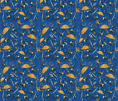 Once Upon A Midnight Drizzle fabric by whimzwhirled on Spoonflower - custom fabric