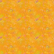 Orange Silk Abstract
