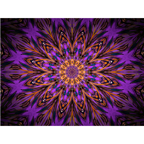 Kaleidescope 0824 k2 retrodark lavender fabric by wyspyr on Spoonflower - custom fabric