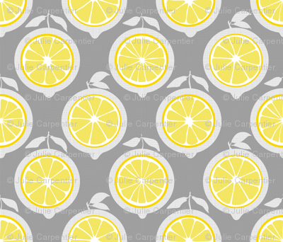 Julie's Yellow Lemon Grid M