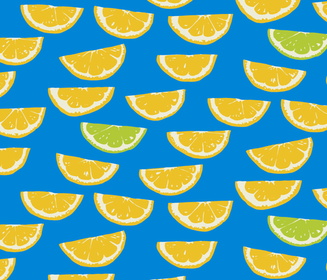 Summer Citrus  fabric by jillbyers on Spoonflower - custom fabric