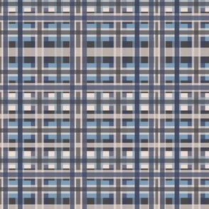 Plaid Blue/Gray Design