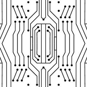 Circuit - White/Black (Large)
