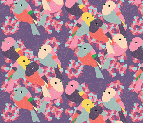 Little Birds - 2 fabric by owlandchickadee on Spoonflower - custom fabric