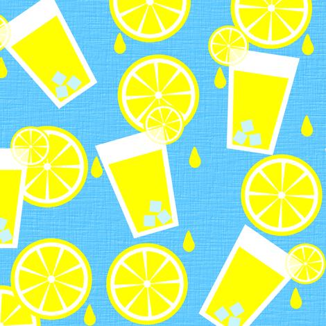 Lemonade anyone? fabric by shelleymade on Spoonflower - custom fabric