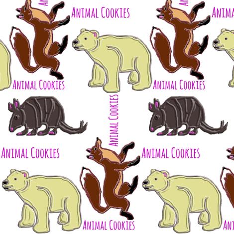 Animal Cookies fabric by ravynscache on Spoonflower - custom fabric