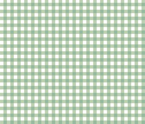 Aqua_Gingham fabric by kelly_a on Spoonflower - custom fabric