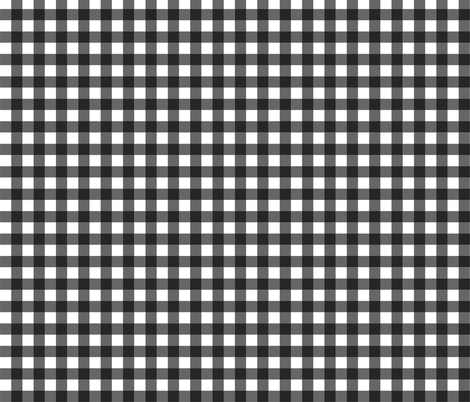 Black_Gingham fabric by kelly_a on Spoonflower - custom fabric