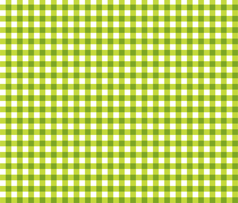 Chartreuse_Gingham fabric by kelly_a on Spoonflower - custom fabric