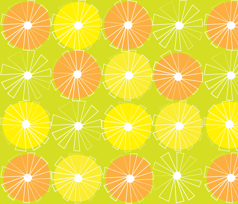 Citron Limette fabric by snowflower on Spoonflower - custom fabric