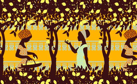 Lemon Harvest fabric by reikahunt on Spoonflower - custom fabric