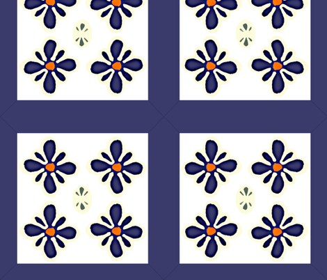 polish pottery clippable wall decal medallions fabric by utreviolet on Spoonflower - custom fabric