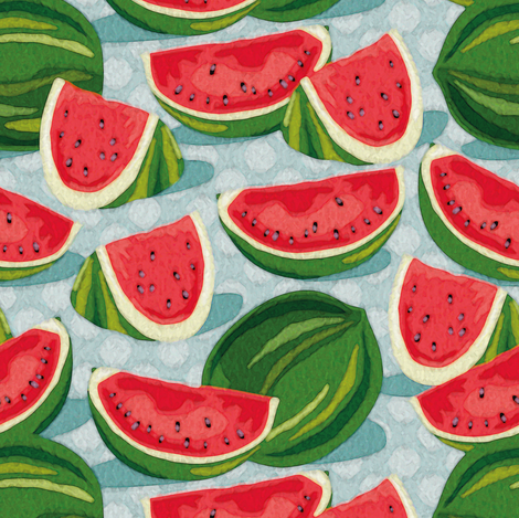 Watermelon fabric by cassiopee on Spoonflower - custom fabric