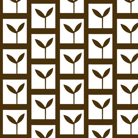 Seedlings fabric by boris_thumbkin on Spoonflower - custom fabric