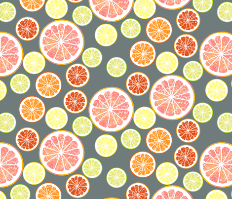 pink grapefruit love summer party fabric by domoshar on Spoonflower - custom fabric