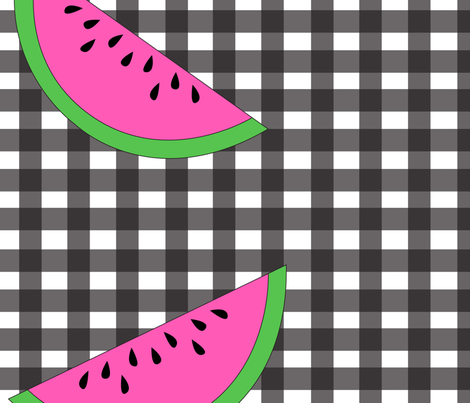 WatermelonPicnic fabric by thefreckledredfox on Spoonflower - custom fabric