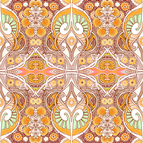Here Come Those Psychedelic Sixties Again fabric by edsel2084 on Spoonflower - custom fabric