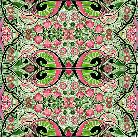 Fleur des alien weed patch fabric edsel2084 spoonflower for Alien print fabric